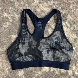 Adidas Sports Bra - Blue/GrayFloral